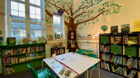 The new library at Mora Primary School and Nursery. Picture: Mora