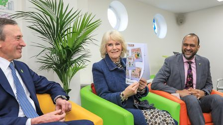 Chair of trustees John Bartlett with the Duchess and Barnado's CEO Javed Khan. Picture: Barnado's