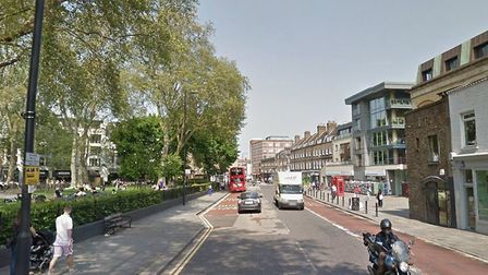 This stretch of road is closed after the accident [Photograph from Google StreetView]
