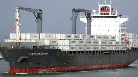 Stock image of a cargo ship. Picture: PA Images