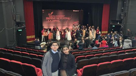 Wembley siblings Veer and Prerna Thakkar, who both won Gold at the China-UK International Music Fest