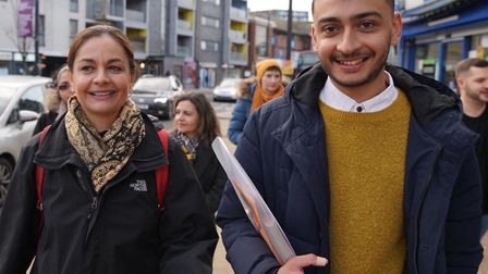 LibDem Mayor candidate Siobhan Benita with Anton Georgiou who won the Alperton by-election for the p