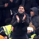 Arsenal manager Mikel Arteta on the touchline during the Premier League match at Stamford Bridge, Lo