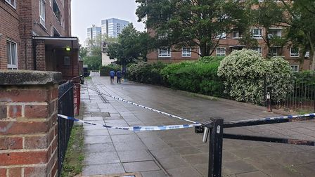 Ainsworth House, where the 20-year-old was killed in St John's Wood. Picture: Harry Taylor