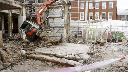 The aftermath of the tragic incident in Grosvenor Square, in 2014. Picture: Health and Safety Execut