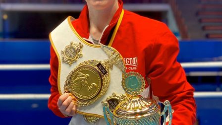 Islington BC's Jem Campbell was named Golden Girl of the tournament at the Box Cup in Sweden (pic Re