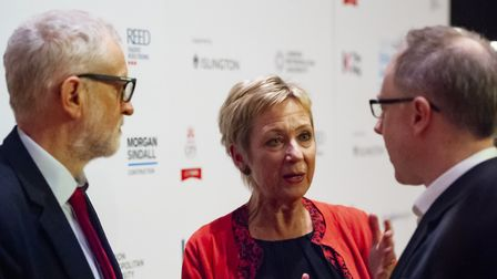 Islington Education Awards 2020. Picture: Jeremy Corbyn (left) and Jo Dibbs (centre). Picture: James