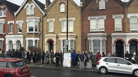 Anti-abortion protestors outside a clinic in Finsbury Park. Picture: Bpas