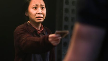Tina Chiang as Li Na in The Fix at The Pleasance Theatre