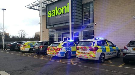 Police were called when customers descended on the new branch of Saloni in Brent Cross, after the ex