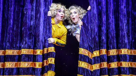 Nancy Zamit and Bryony Corrigan in Magic Goes Wrong Picture: Robert Day