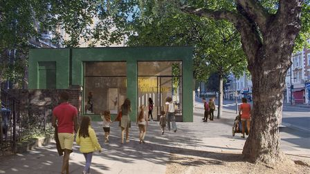National Youth Theatre Capital Project south entrance. Picture: DSDHA