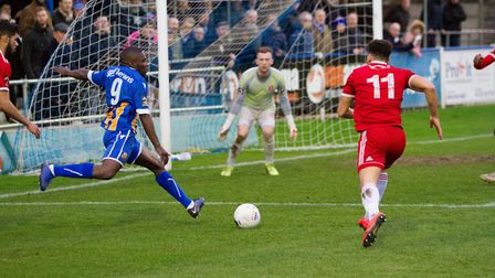 Wealdstone in action against Welling United. Picture: MontImageMedia