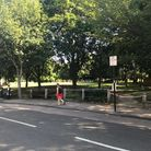 Whittington Park was still taped off on Tuesday morning. Picture: Kris Milovsorov