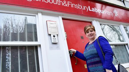 Emily Thornberry MP at her constituency office in Barnsbury Street. Picture: Polly Hancock