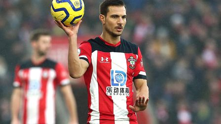 Southampton's Soares Cedric prepares to take a throw in during the Premier League match at St Mary's
