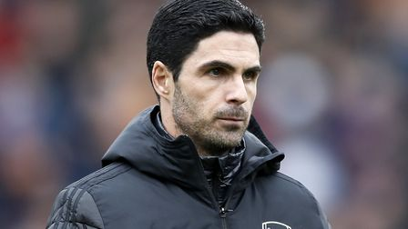 Arsenal manager Mikel Arteta during the Premier League match at Turf Moor, Burnley. Picture: Martin