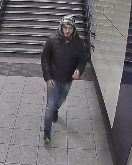 Police wish to speak to this man regarding robbery on the Jubilee Line between Dollis Hill and Wembl