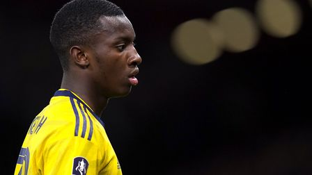 Arsenal's Eddie Nketiah during the FA Cup fourth round match at Vitality Stadium, Bournemouth. Pictu