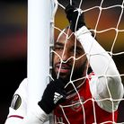 Arsenal's Alexandre Lacazette during the Europa League match at the Emirates Stadium, London. Pictur