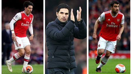 Dan Mountney takes a look at Mikel Arteta's inverted full-back system. Picture: PA