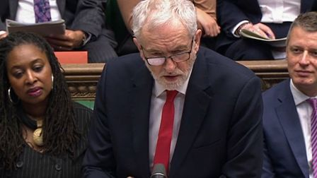 Labour leader Jeremy Corbyn speaks during Prime Minister's Questions in the House of Commons, London