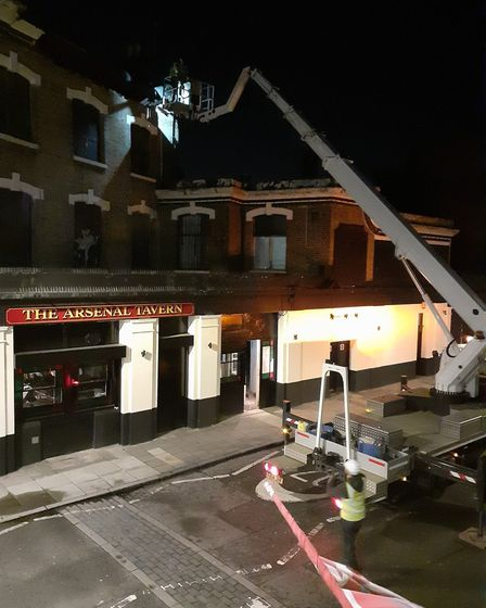 The roof collapsed at the Arsenal Tavern on Sunday, March 8. Picture: Jane Robertson