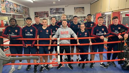 Students from Arsenal in the Community were put through their paces by Islington BC coach Zowie Camp