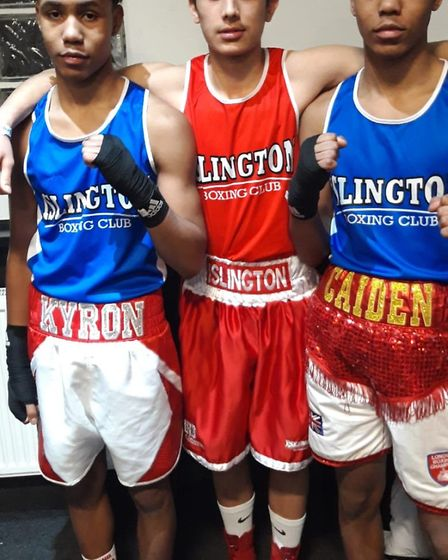 Islington Boxing Club had three youngters competing in the London Junior semi finals (Pic Reggie Hag