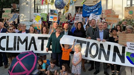 The declaration of a climate emergency was signed at Islington Town Hall in June 2019. Picture: SEBA
