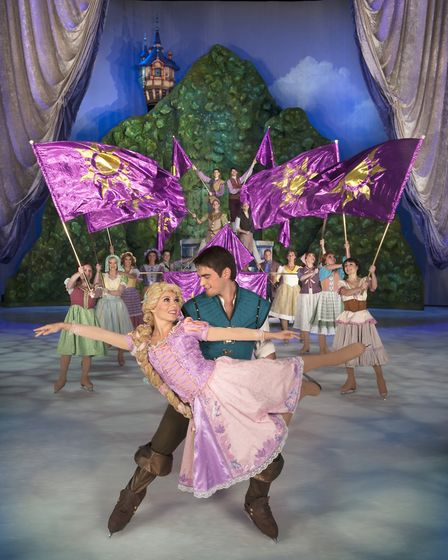 Rapunzel and Flynn Rider in Disney on Ice . Picture: FELD ENTERTAINMENT/DISNEY ON ICE