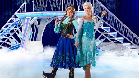 Elsa and Anna as Disney on Ice presents Magical Ice Festival. Picture: TIM PANNELL/FELD ENTERTAINMEN