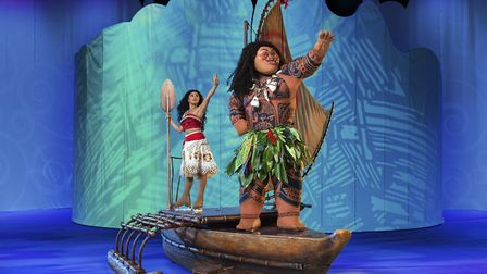 Moana and demigod Maui in Disney on Ice presents Magical Ice Festival. Picture: FELD ENTERTAINMENT/D
