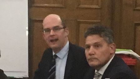 Partner chief exec Tom Irvine (left) and Neil Ackcral, chief property officer at The Hyde Group. Pic