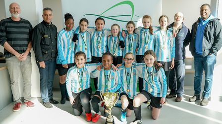 Brent Schools won the U13 match at the Wembley Cup tournament on International Women's Day. Picture