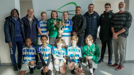 QPR won the U12 match at the Wembley Cup tournament on International Women's Day. Picture: Nabeel Ba