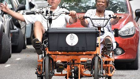 Bikeworks' taxi service Ride Side-by-Side is launching in Finsbury Park. Picture: Bikeworks
