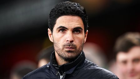 Arsenal manager Mikel Arteta before the UEFA Europa League round of 32 second leg match at the Emira