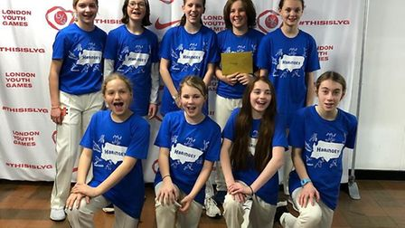 Haringey's girls' cricket team face the camera after booking a trip to Lord's for the London Youth G