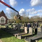 Graves being dug up in Alperton Cemetery. Picture: Jay Burgess