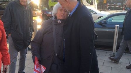 Alice Kilroy and Jeremy Corbyn. Picture: Shirley Franklin