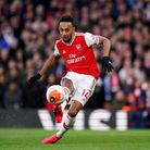 Arsenal's Pierre-Emerick Aubameyang scores his side's second goal of the game during the Premier Lea