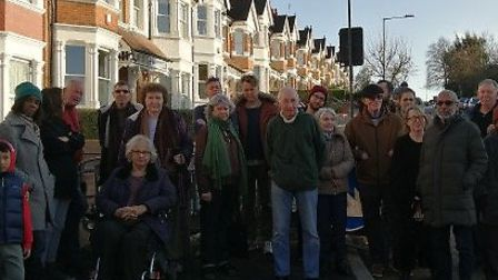 Neighbours on Chambers Lane say no to asphalt pavements. Picture: Katherine Fried
