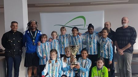 The Brent under-11 girls football team. Picture: Brent Schools FA