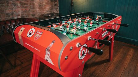 Camden Town Brewery and Arsenal create female foosball table to encourage gender equality in pubs (P