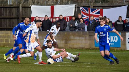 Wealdstone in action against Chippenham Town. Picture: Adam Williams