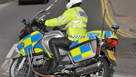 Stock image of police officer on motorbike. Picture: Met Police