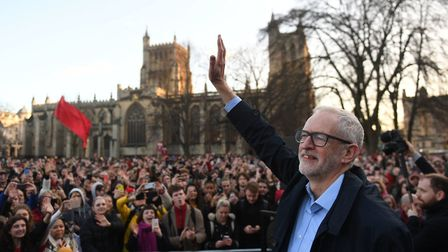 PA Review of the General Election 2019 09/12/19 Labour Party leader Jeremy Corbyn waves to supporter