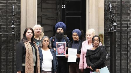 Family and friends of Surjit Kaur Athwal, who was the victim of an honour killing organised by her h