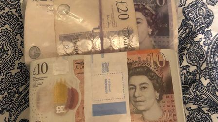 Cash seized by police in county lines operation. Picture: Met Police